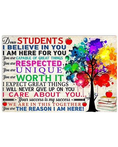 Dear Students I Believe In You
