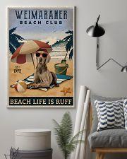 Vintage Beach Club Is Ruff Weimaraner 11x17 Poster lifestyle-poster-1