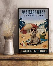Vintage Beach Club Is Ruff Weimaraner 11x17 Poster lifestyle-poster-3