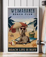 Vintage Beach Club Is Ruff Weimaraner 11x17 Poster lifestyle-poster-4