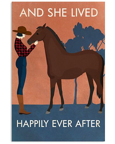 Vintage Girl She Lived Happily Horse