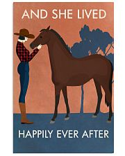 Vintage Girl She Lived Happily Horse 16x24 Poster front
