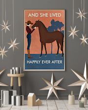 Vintage Girl She Lived Happily Horse 16x24 Poster lifestyle-holiday-poster-1