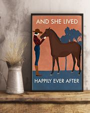 Vintage Girl She Lived Happily Horse 16x24 Poster lifestyle-poster-3