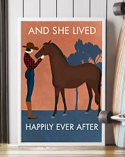 Vintage Girl She Lived Happily Horse 16x24 Poster lifestyle-poster-4