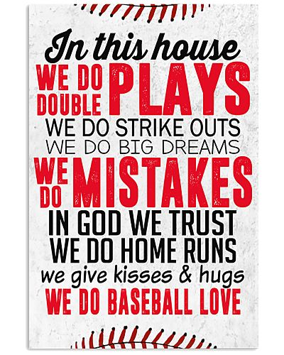Baseball In This House We Do Double Play