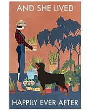 Vintage Lived Happily Gardening Rottweiler 11x17 Poster front