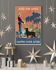 Vintage Lived Happily Gardening Rottweiler 11x17 Poster lifestyle-holiday-poster-1