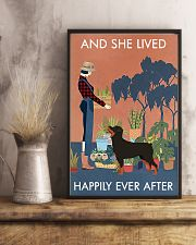 Vintage Lived Happily Gardening Rottweiler 11x17 Poster lifestyle-poster-3