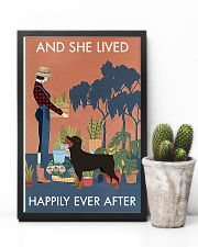 Vintage Lived Happily Gardening Rottweiler 11x17 Poster lifestyle-poster-8