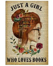 Just A Girl Who Loves Books Redhead Reading 16x24 Poster front