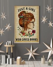 Just A Girl Who Loves Books Redhead Reading 16x24 Poster lifestyle-holiday-poster-1