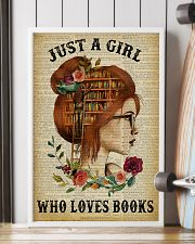 Just A Girl Who Loves Books Redhead Reading 16x24 Poster lifestyle-poster-4