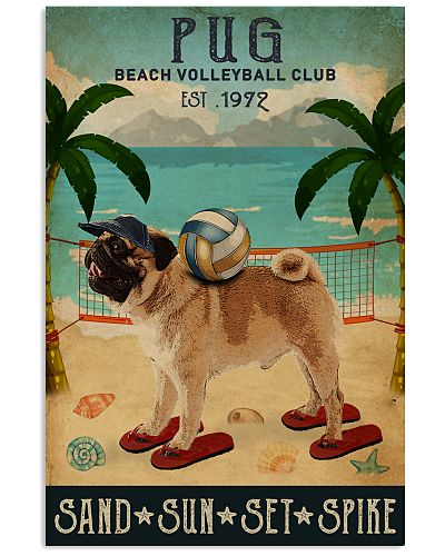 Vintage Beach Volleyball Club Pug