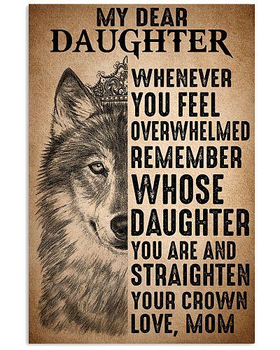 To Daughter Straighten Your Crown Wolf
