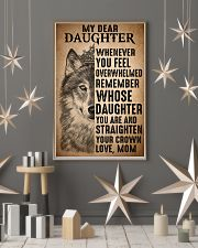 To Daughter Straighten Your Crown Wolf 11x17 Poster lifestyle-holiday-poster-1