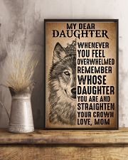 To Daughter Straighten Your Crown Wolf 11x17 Poster lifestyle-poster-3
