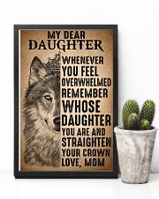To Daughter Straighten Your Crown Wolf 11x17 Poster lifestyle-poster-8