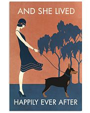 Vintage Girl Lived Happily Miniature Pinscher 11x17 Poster front