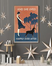 Vintage Girl Lived Happily Miniature Pinscher 11x17 Poster lifestyle-holiday-poster-1