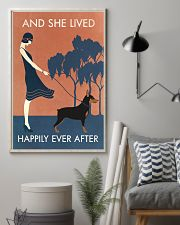 Vintage Girl Lived Happily Miniature Pinscher 11x17 Poster lifestyle-poster-1
