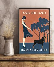 Vintage Girl Lived Happily Miniature Pinscher 11x17 Poster lifestyle-poster-3