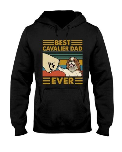 Retro Blue Cavalier King Spaniel Dad Ever