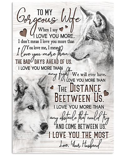Wolf To My Gorgeous Wife I Love You The Most