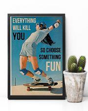 Skateboarding Choose Something Fun 16x24 Poster lifestyle-poster-8