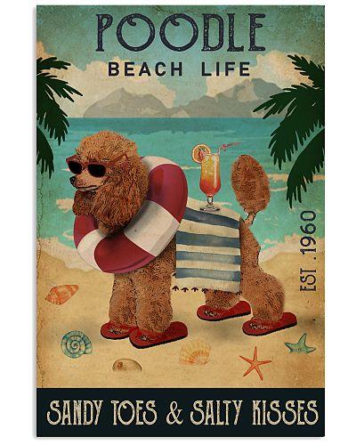Vintage Beach Cocktail Life Poodle