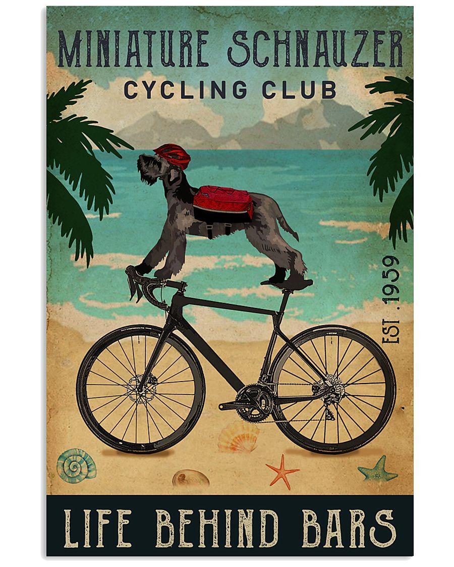 Cycling Club Miniature Schnauzer 11x17 Poster