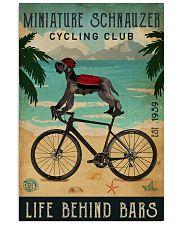 Cycling Club Miniature Schnauzer 11x17 Poster front