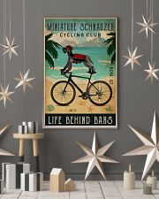 Cycling Club Miniature Schnauzer 11x17 Poster lifestyle-holiday-poster-1