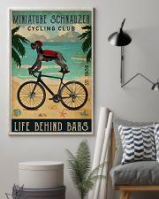 Cycling Club Miniature Schnauzer 11x17 Poster lifestyle-poster-1