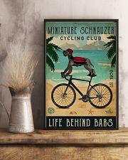 Cycling Club Miniature Schnauzer 11x17 Poster lifestyle-poster-3