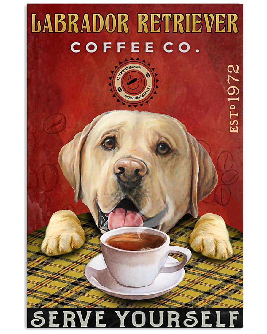 Lazy Coffee Company Labrador Retriever 11x17 Poster