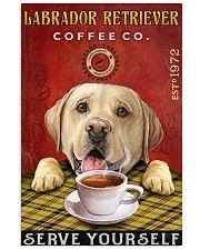Lazy Coffee Company Labrador Retriever 11x17 Poster front