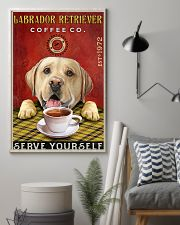 Lazy Coffee Company Labrador Retriever 11x17 Poster lifestyle-poster-1