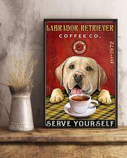 Lazy Coffee Company Labrador Retriever 11x17 Poster lifestyle-poster-3