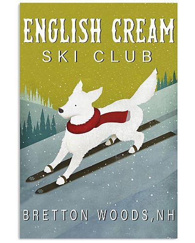 English Cream Golden Retriever Skiing Club