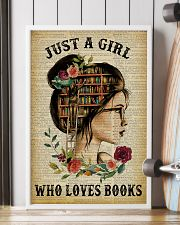 Just A Girl Who Loves Books Reading Paper 16x24 Poster lifestyle-poster-4