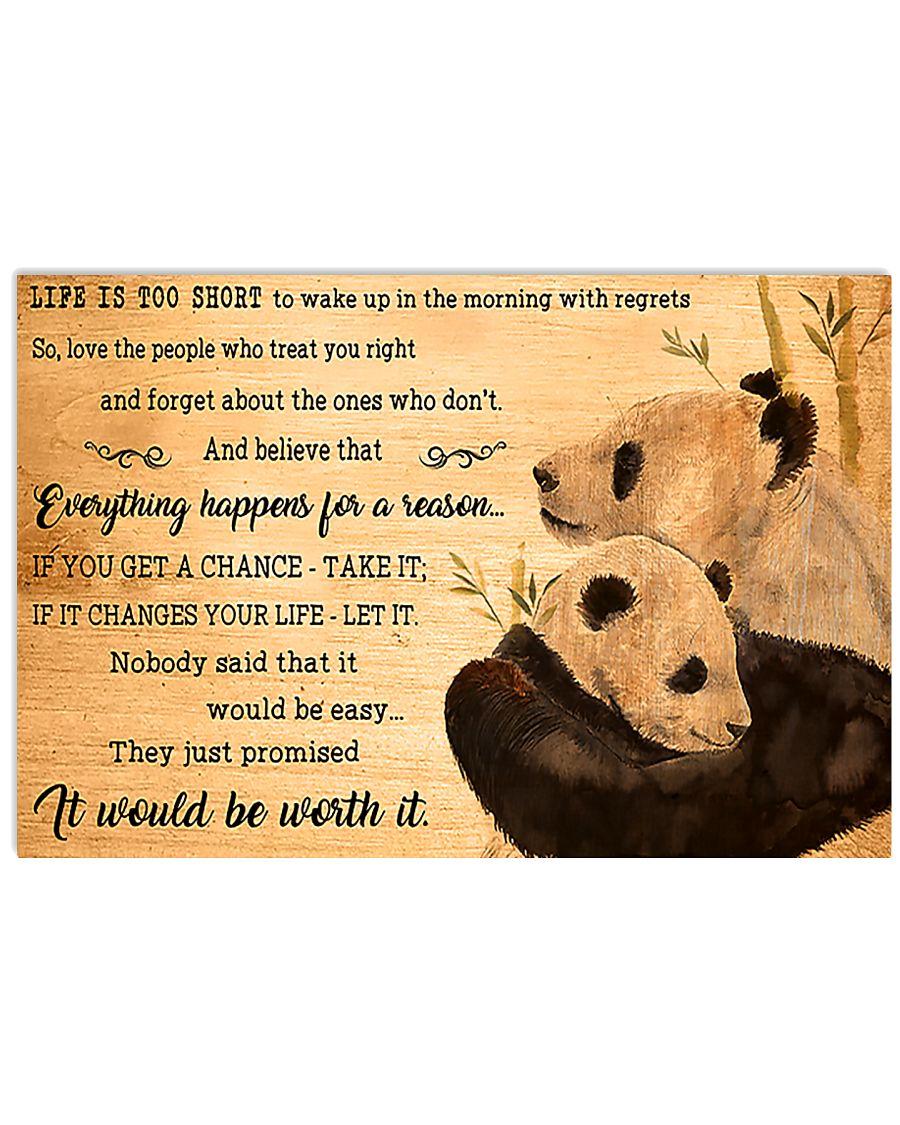 Panda Be Worth It 17x11 Poster