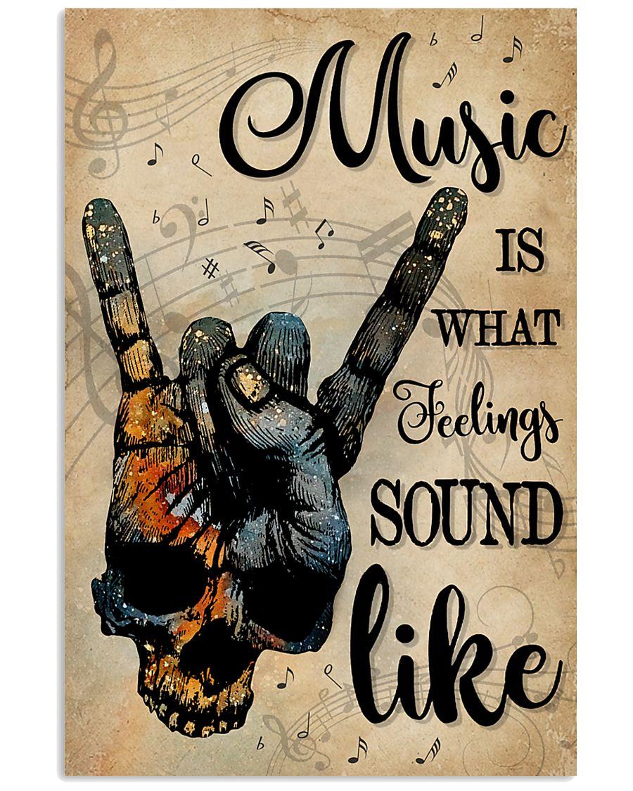 Blue Earth Skull Rock Hand Music Feel Sound Like 16x24 Poster