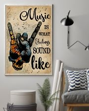 Blue Earth Skull Rock Hand Music Feel Sound Like 16x24 Poster lifestyle-poster-1