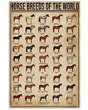 Horse Breeds Of The World 11x17 Poster front