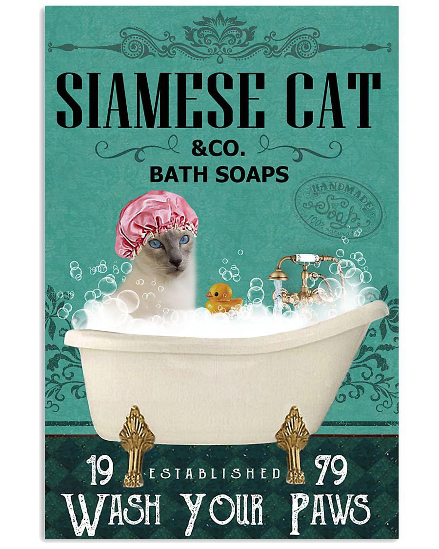 Green Bath Soap Company Siamese cat 11x17 Poster