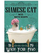 Green Bath Soap Company Siamese cat 11x17 Poster front