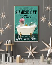 Green Bath Soap Company Siamese cat 11x17 Poster lifestyle-holiday-poster-1