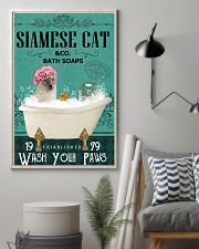 Green Bath Soap Company Siamese cat 11x17 Poster lifestyle-poster-1