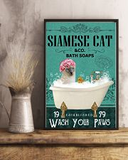 Green Bath Soap Company Siamese cat 11x17 Poster lifestyle-poster-3